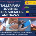 Taller para jóvenes: redes sociales, amenazas