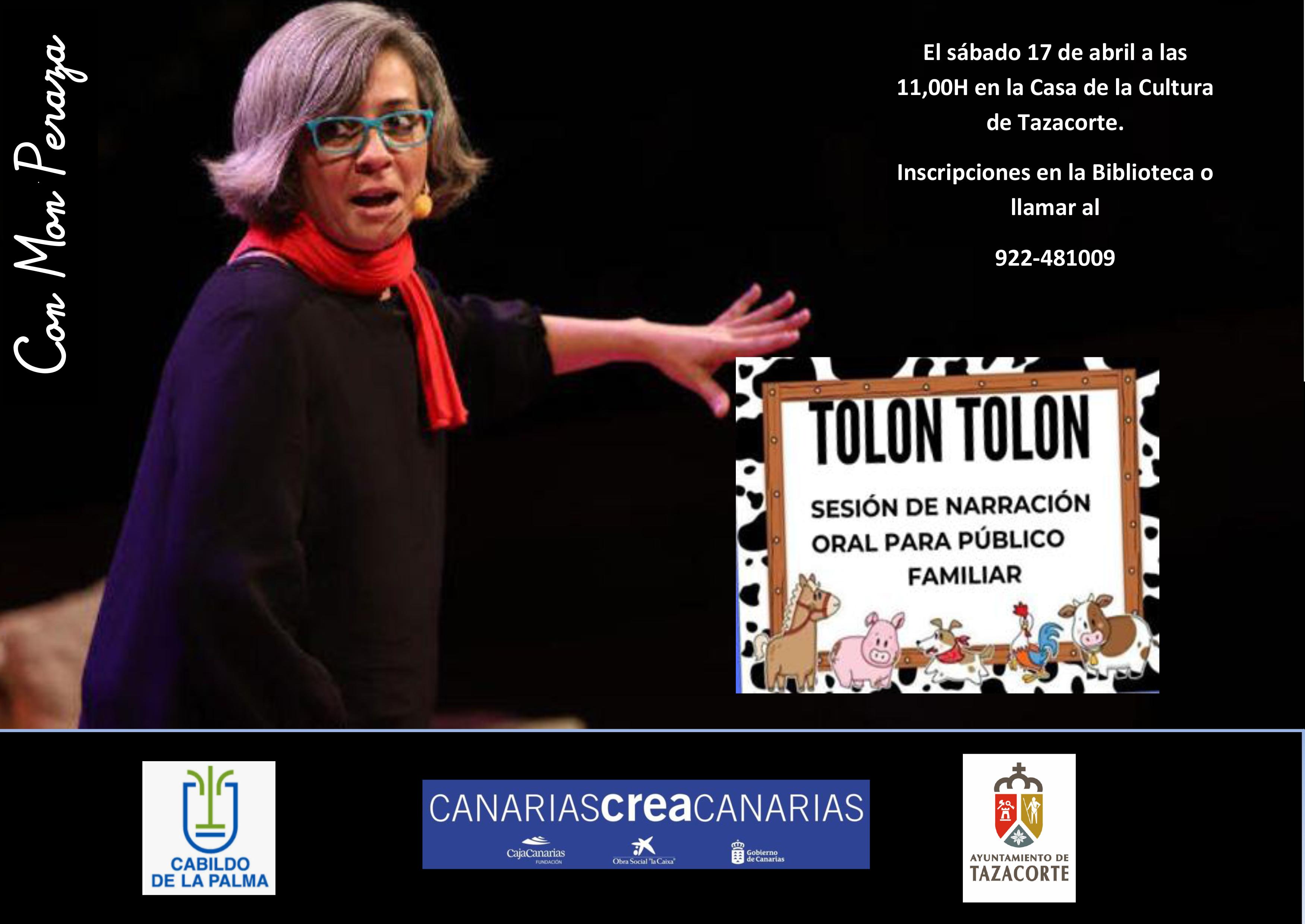 """""""TOLÓN TOLÓN"""" – Sesión de narración oral para público familiar"""