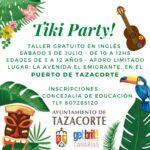 """TALLER GRATUITO DE INGLÉS – """"TIKY PARTY!"""""""